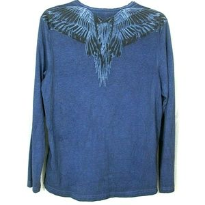 G by Guess Kade Tee Shirt Back Wing Graphic LG